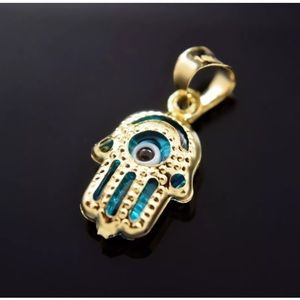 Jewelry - 14k Gold Evil Eye Hamsa Charm Hand of God Filigree
